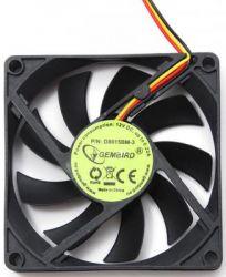 cooler gembird d8015bm-3 80x80x15 3pin