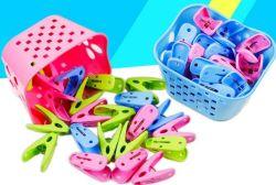 other device clothes-pegs camellia plastic 24pcs basket